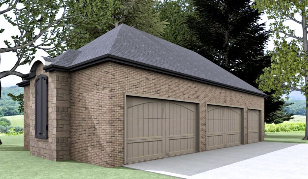 Detached Garage that matches House Design